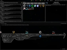The ship design screen.